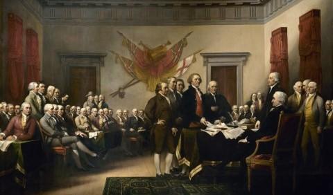 Прийняття декларації незалежності США