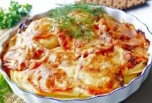 Картопляна запіканка з помідорами