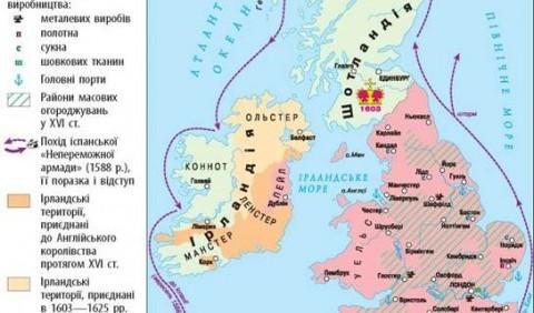Основні напрямки зовнішньої політики Англії в XVI ст.