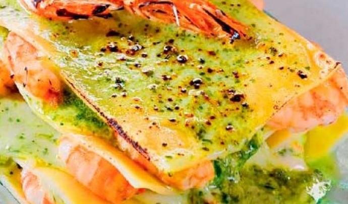 Лазанья з морепродуктами